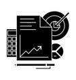 marketing analytics icon vector image