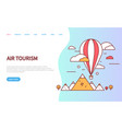 air tourism website with sky transport vector image vector image