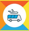 airport shuttle icon colored line symbol premium vector image