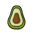 avocado fresh isolated icon design vector image vector image