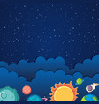 background template design with solar system theme