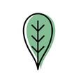 botany leaf to ecology care symbol vector image vector image