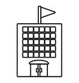 building school classroom student outline vector image vector image