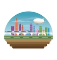 Buildings of big city design vector image vector image