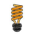 bulb cartoon doodle vector image vector image
