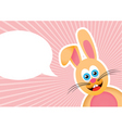 bunny background vector image