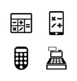 calculators simple related icons vector image