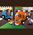 car accident in the city vector image vector image