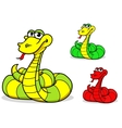 Cartoon funny snake vector image vector image