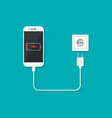 charger with phone for charge battery vector image