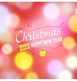 Christmas postcard template vector image