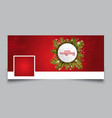 christmas timeline design cover vector image vector image