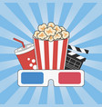 cinema concept movie time vector image vector image