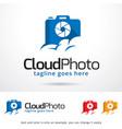 cloud photo logo template vector image