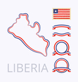 Colors of Liberia vector image vector image