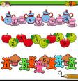 counting to ten activity for preschool kids vector image vector image