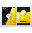 cover set yellow template for brochure banner vector image vector image