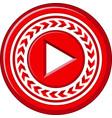 creative concept of play button icon circle vector image