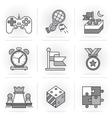 Creative Flat line ikon set vector image