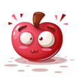cute funny - cartoon apple characters vector image vector image