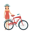 cycling on the beach vector image vector image