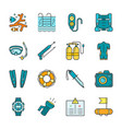 diving equipment accessories and scuba gear flat vector image vector image