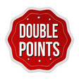 double points label or sticker vector image