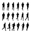 drawing running athletes silhouettes on vector image vector image
