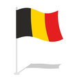 Flag of Belgium Official national symbol of vector image vector image
