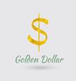 Golden Dollar Symbol vector image vector image