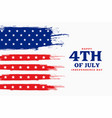 independence day 4th july american background vector image vector image