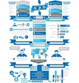 INFOGRAPHIC DEMOGRAPHICS BUSINESS BLUE vector image vector image