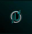 initial uj logo design initial vj logo design vector image vector image