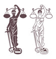 lady justice themis vector image vector image