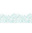Leaves lineart horizontal seamless pattern vector image vector image