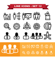 Line icons set 12 vector image vector image