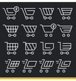 lines icons pack collection set trend vector image vector image