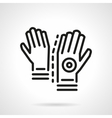 Longboard gloves simple line icon vector image vector image