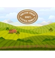 Meadow landscape Countryside Rural area vector image