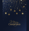 merry christmas stars vector image vector image