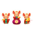 mice or rats for 2020 chinese new year card vector image vector image