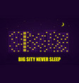 night city flat vector image