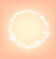 orange romantic abstrack sparkling circle frame vector image vector image