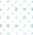 pattern icons seamless white background vector image vector image