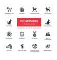 pet services - modern simple thin line design vector image vector image