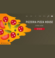 pizzeria web site vector image vector image
