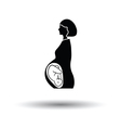 Pregnant woman with baby icon