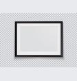 realistic horizontal black photo frame isolated vector image
