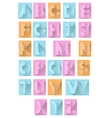retro colorful paper alphabet vector image vector image
