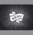 ribbon banner menu black and white vector image vector image